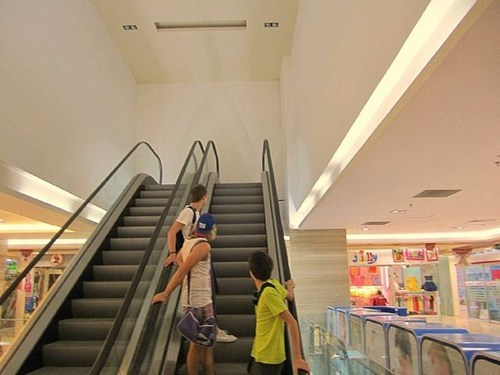 design engineering escalator temporarily stairs genius