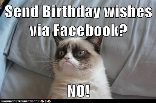 Send Birthday Wishes Via Facebook NO