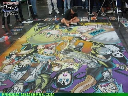 I bow to you, Otaku chalk artist...