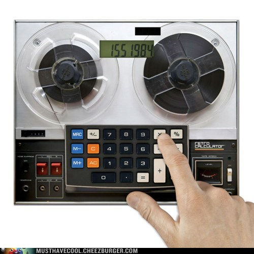 calculators retro tape reels