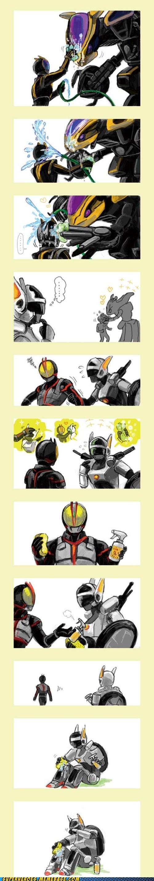 art robots love kamen rider - 6999334144