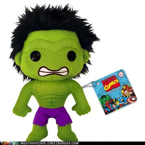 Plush cute hulk