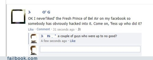 profile hack facebook hacked Fresh Prince of Bel-Air west philadelphia failbook g rated - 6999707904