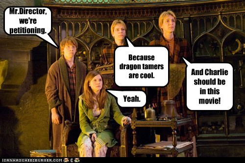 Harry Potter director Movie dragons rupert grint Ron Weasley bonnie wright ginny weasley - 6999748352