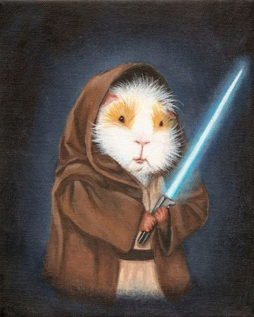 lightsaber art star wars Movie guinea pig painting reference Jedi