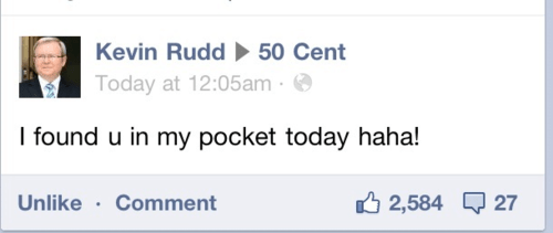 twitter,Kevin Rudd,50 cent
