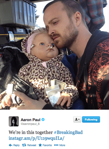 aaron paul twitter breaking bad amc TV tweet funny - 6999918592
