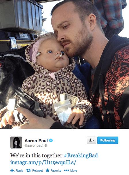 aaron paul twitter breaking bad amc TV tweet funny - 6999918592