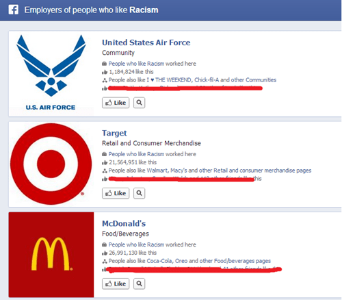 work,McDonald's,employees,Target,air force,failbook,g rated