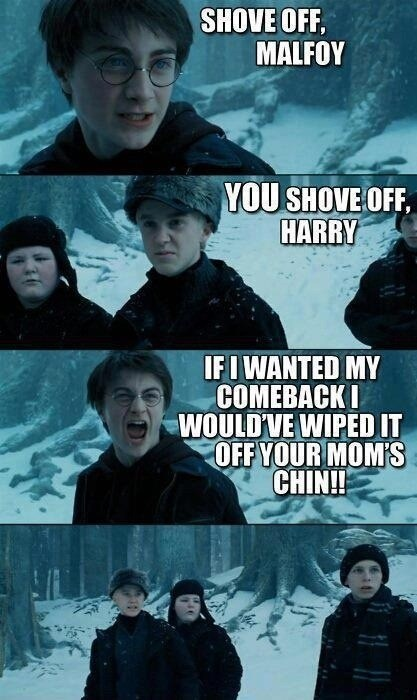 Harry Potter,comeback,innuendo,double entendre,schmexual humor