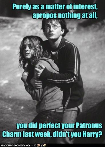 acting casual,Harry Potter,Daniel Radcliffe,hermione granger,scared,dementors,patronus,emma watson