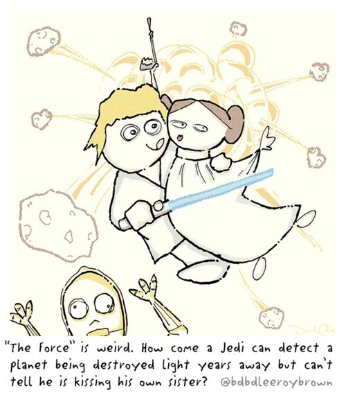 confusing,c3p0,detect,luke skywalker,kissing,sister,light years,Princess Leia