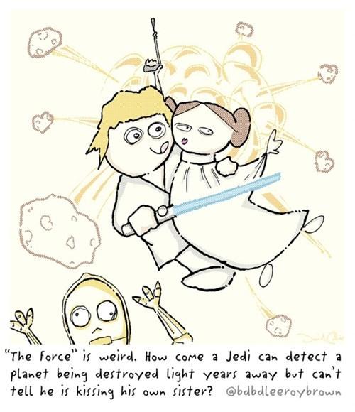 confusing c3p0 luke skywalker kissing Princess Leia - 7000226048