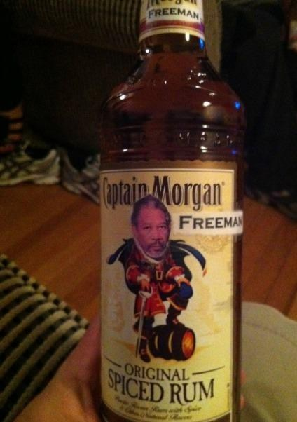 alcohol,captain morgan,Rum,Morgan Freeman