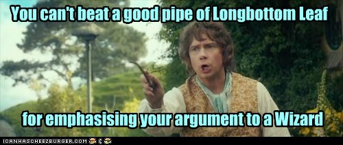 Martin Freeman Bilbo Baggins wizard The Hobbit argument pipe emphasis - 7000440576