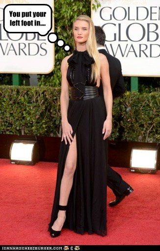 hokey pokey golden globes Rosie Huntington-Whiteley leg - 7000482816