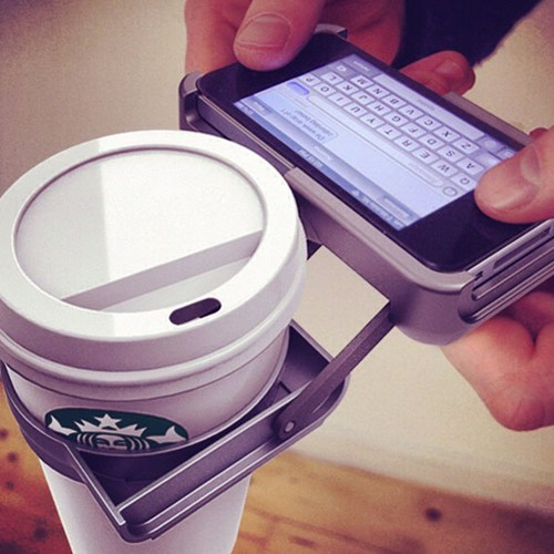 phone case silly cup holder coffee - 7000587008