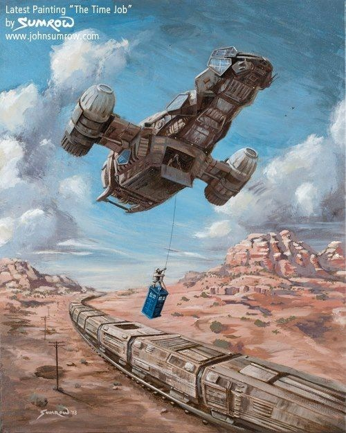 the train job,mashup,Fan Art,serenity,tardis,doctor who,Firefly