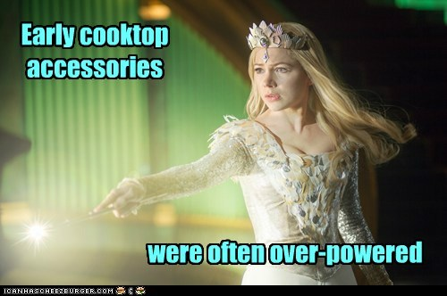 glinda,cooking,Michelle Williams,oz the great and powerful,overpowered,magic