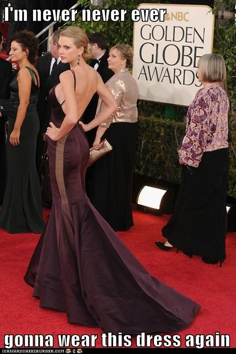 taylor swift,golden globes,we are never ever getting back together,dress