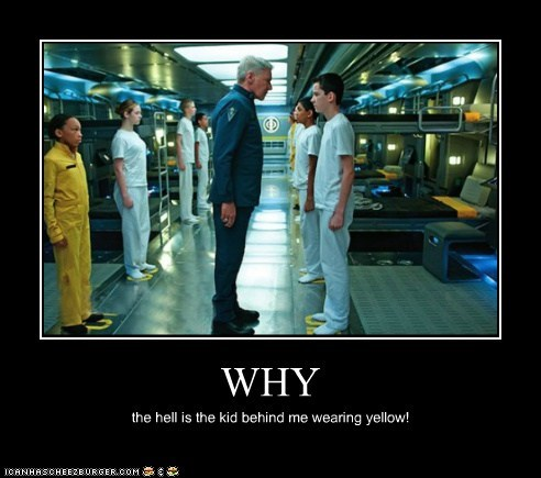 enders game yellow why battle school asa butterfield colonel graff Harrison Ford - 7001071104