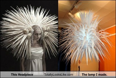 fashion lamp TLL paper headpiece - 7001244672