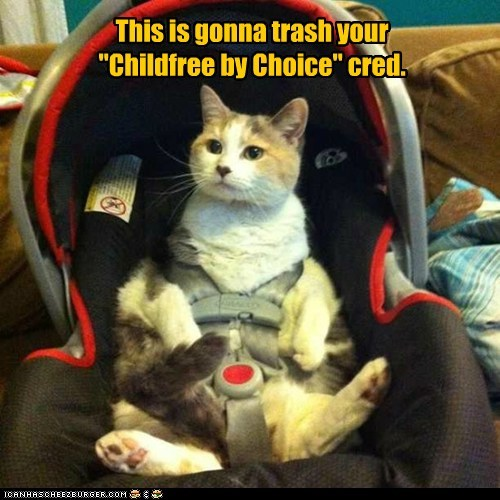 """This is gonna trash your """"Childfree by Choice"""" cred."""