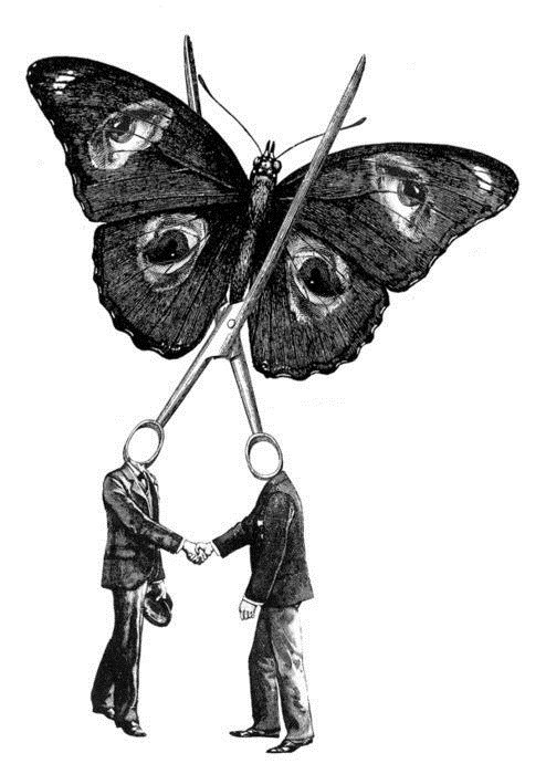 art,butterfly,scissors