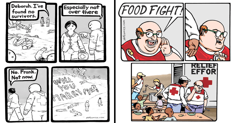 TWisted comics from the perry bible fellowship, dark humor.