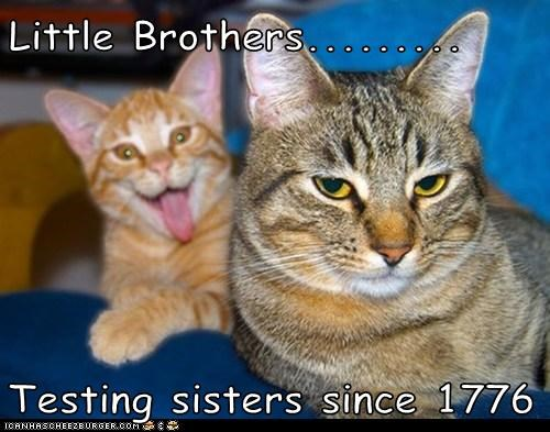 Little Brothers.........  Testing sisters since 1776