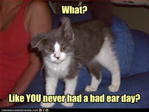 What? Like YOU never had a bad ear day?