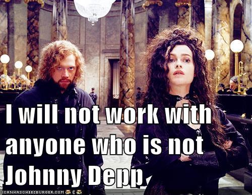 demands Harry Potter helena bonham-carter will not rupert grint Johnny Depp - 7002787072