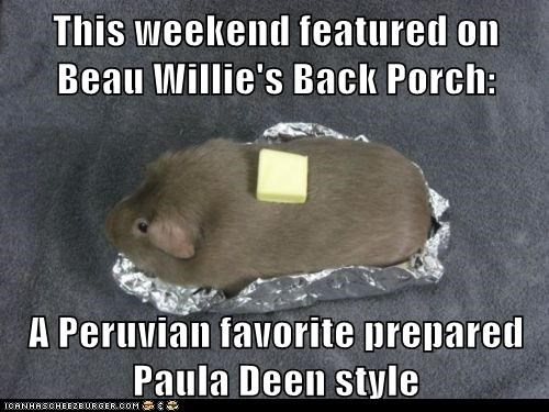 Cooking Show,guinea pigs,butter,paula deen