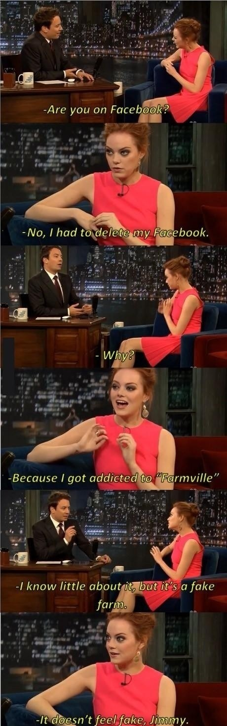 jimmy fallon Farmville emma stone failbook g rated - 7003395840