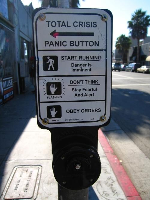 sign emergency panic crosswalk - 7003429120