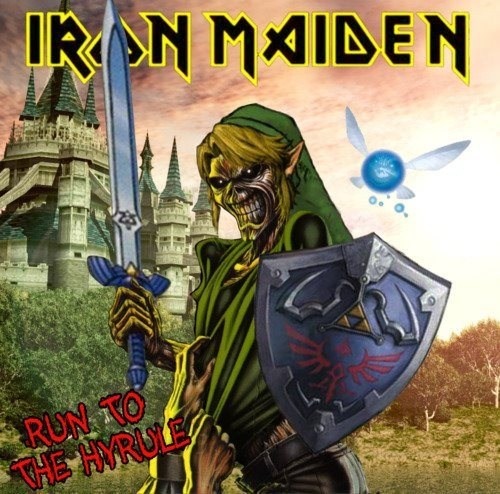 link,the legend of zelda,iron maiden