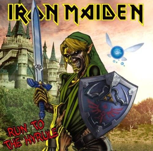 link,the legend of zelda,iron maiden
