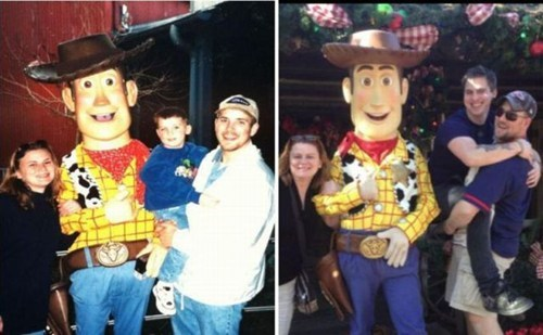 woody Then And Now recreation photo