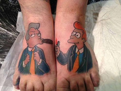 feet tatttoos,futurama,boneitis,g rated,Ugliest Tattoos