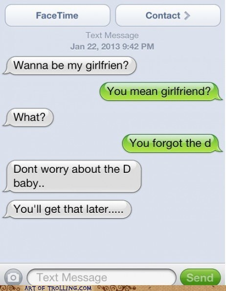 tenacious d text girlfriend THE D sms - 7003744512