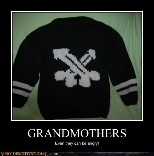 sweater,angry,grandmother