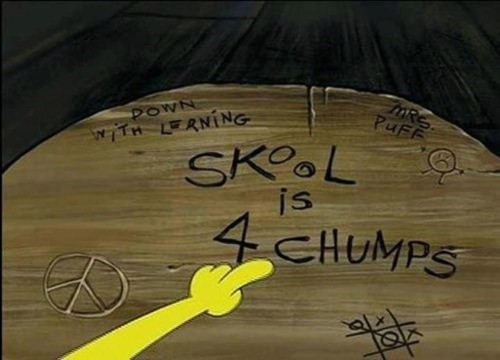 SpongeBob SquarePants chumps skool
