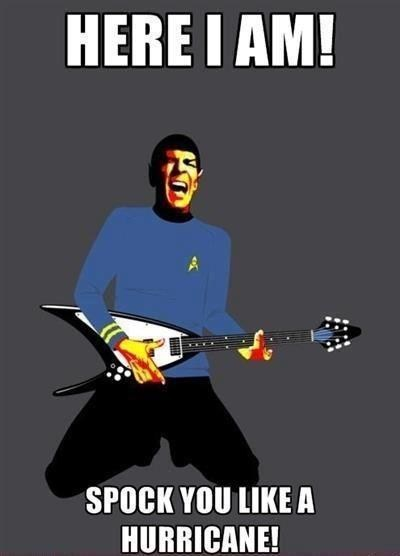 guitar,rock you like a hurricane,lyrics,song,Spock,similar sounding