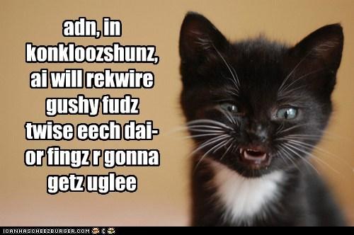 adn, in konkloozshunz, ai will rekwire gushy fudz twise eech dai- or fingz r gonna getz uglee