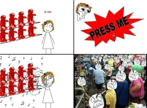 toy store Rage Comics tickle me elmo