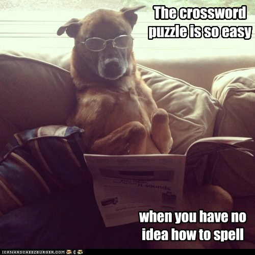dogs crossword puzzle what breed spelling i have no idea what im doing newspaper - 7004760832