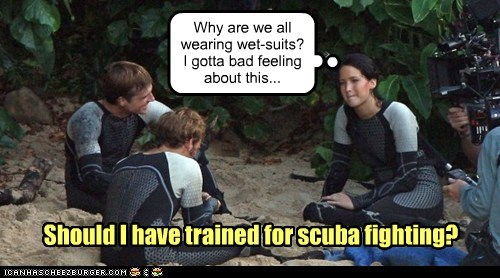 scuba,jennifer lawrence,hunger games,katniss everdeen
