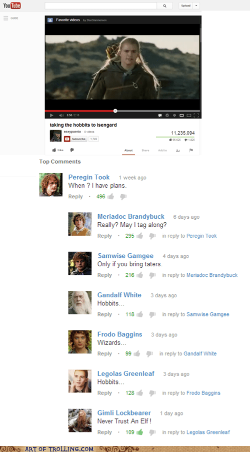 Lord of the Rings youtube The Hobbit - 7005916928