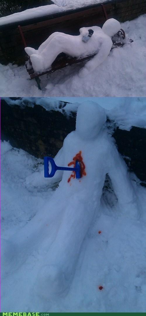 murder drinking snow snowmen - 7006609920