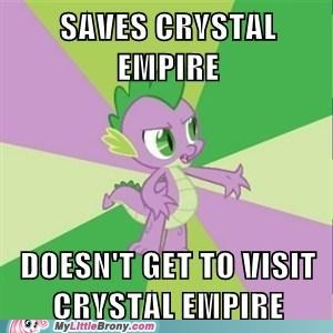 spike,crystal empire,bad luck spike,Memes